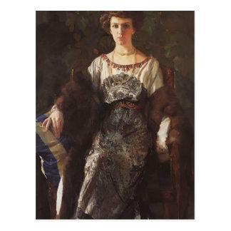 Cartão Postal Retrato de Konstantin Somov- de Ewfimia Nosova