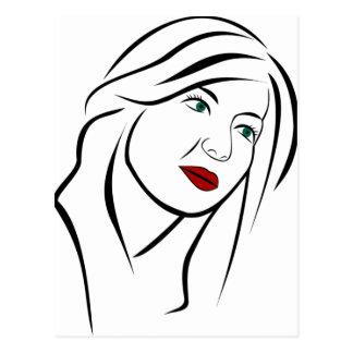 Cartão Postal Retrato fêmea
