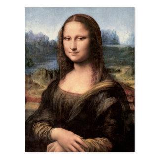 Cartão Postal Retrato/pintura de Mona Lisa
