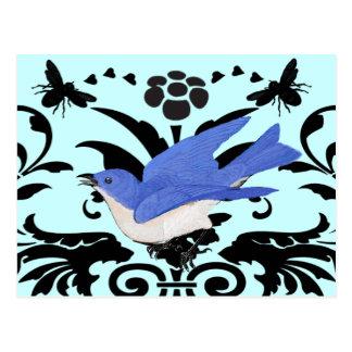 Cartão Postal Rielaboration da ilustração do Bluebird do vintage