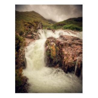 Cartão Postal Rio da montanha de Glencoe
