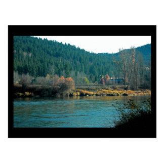 Cartão Postal Rio de Wenatchee, mini impressão de Leavenworth WA