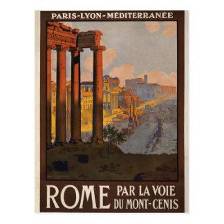 Cartão Postal Roma com o Mont-Cenis