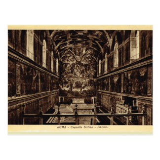 Cartão Postal Roma dentro da capela de Sistine