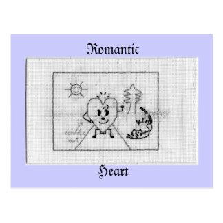 Cartão Postal romantic heart