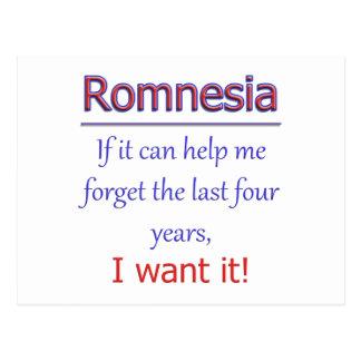 Cartão Postal Romnesia - ajude-me a esquecer