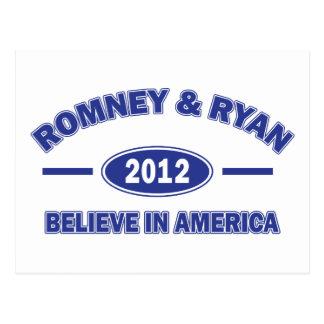 Cartão Postal Romney e Ryan acreditam