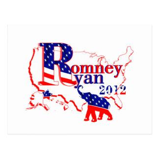 Cartão Postal Romney Ryan 2012 - uma equipa vencedora para as