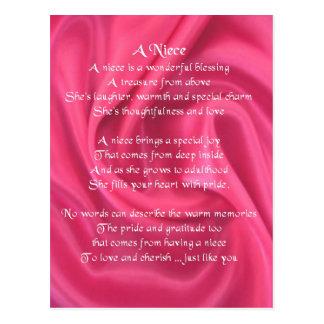 Cartão Postal Rosa - poema da sobrinha