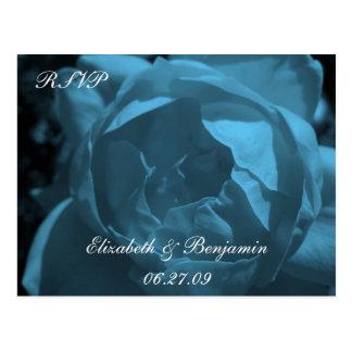 Cartão Postal Rosa RSVP do azul