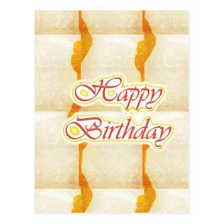 Cartão Postal Roteiro do feliz aniversario: Cristal puro do