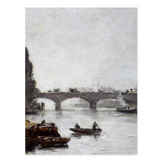 Cartão Postal Rouen, Pont Corneille, efeito de névoa