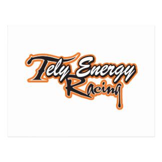 Cartão Postal Roupa da equipe de competência da energia de Tely