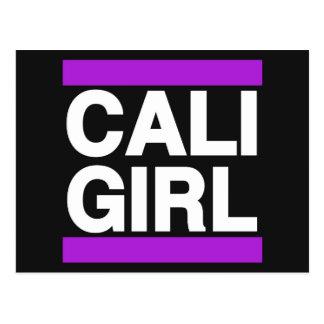 Cartão Postal Roxo da menina de Cali