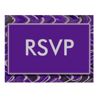 Cartão Postal Roxo moderno de RSVP