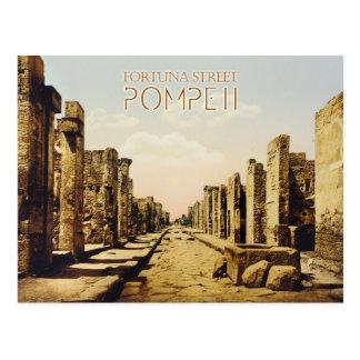 Cartão Postal Rua de Fortuna, Pompeii, Italia