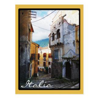 Cartão Postal Rua italiana estreita