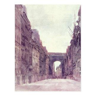 Cartão Postal Rua Santo-Denis em Paris por Thomas Girtin