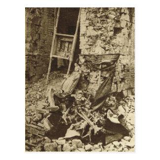 Cartão Postal Ruínas de uma igreja no Somme