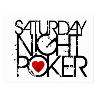Cartão Postal Sábado à noite póquer