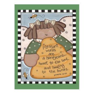 Cartão Postal Sabedoria da colmeia da abelha
