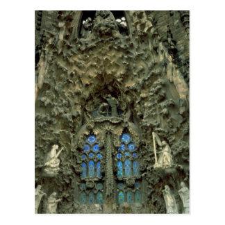 Cartão Postal Sagrada Familia, Barcelona, espanha