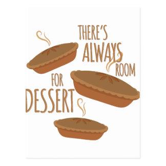Cartão Postal Sala para a sobremesa