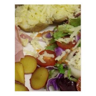Cartão Postal Salada e molho do presunto