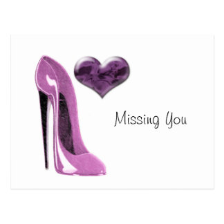 Cartão Postal Salto alto dos calçados do estilete do Mulberry e