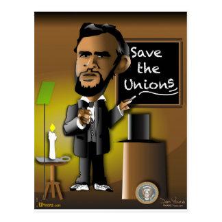 Cartão Postal Salvar as uniões