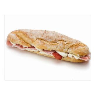 Cartão Postal sanduíche com presunto e queijo