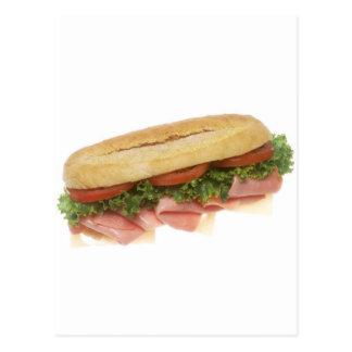 Cartão Postal Sanduíche do supermercado fino
