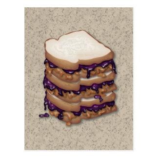 Cartão Postal Sanduíches da manteiga e da geléia de amendoim