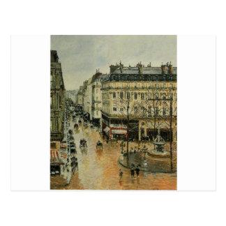 Cartão Postal Santo Honore da rua, tarde, efeito da chuva