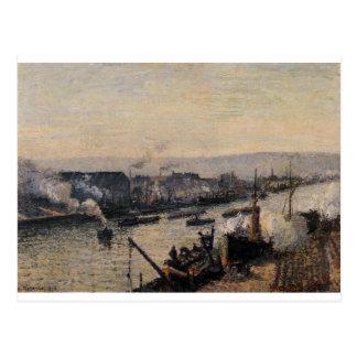 Cartão Postal Santo-Separe o porto, Rouen por Camille Pissarro