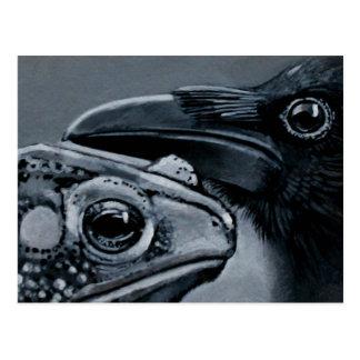 Cartão Postal Sapo & corvo