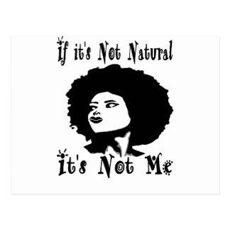 Cartão Postal Se não é natural não é mim por Kesa Kay