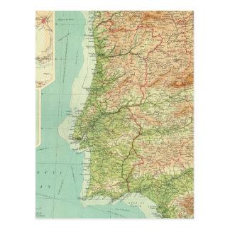 Cartão Postal Seção ocidental da espanha & do Portugal