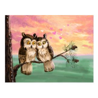 Cartão Postal Seja minhas corujas dos namorados