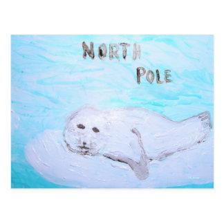 Cartão Postal Selo de harpa do Pólo Norte