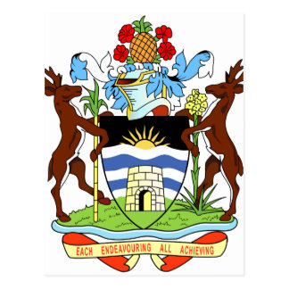Cartão Postal Selo do nacional de Antígua e de Barbados