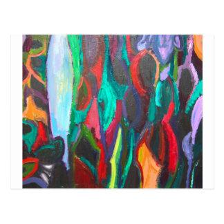 Cartão Postal Selva tropical colorida (paisagem abstrata)