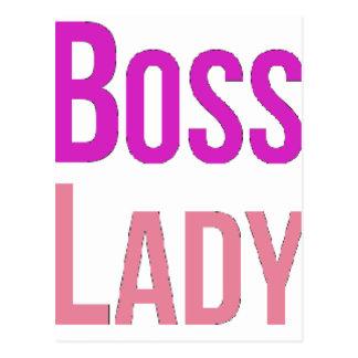 Cartão Postal Senhora do chefe