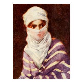Cartão Postal Senhora turca no traje tradicional