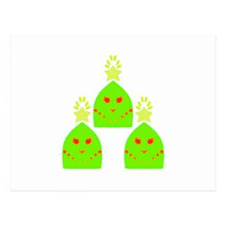 Cartão Postal Senhoras da árvore de Natal de Kawaii