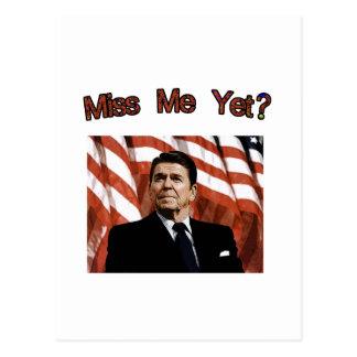 Cartão Postal Senhorita Me Ainda?  Presidente Reagan