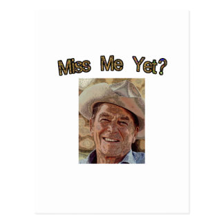 Cartão Postal Senhorita Me Ainda?  Reagan (vaqueiro)