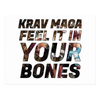 Cartão Postal Sensação de Krav Maga ele em seus ossos