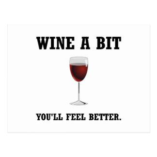 Cartão Postal Sensação do vinho melhor