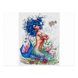 Cartão Postal Sereia azul